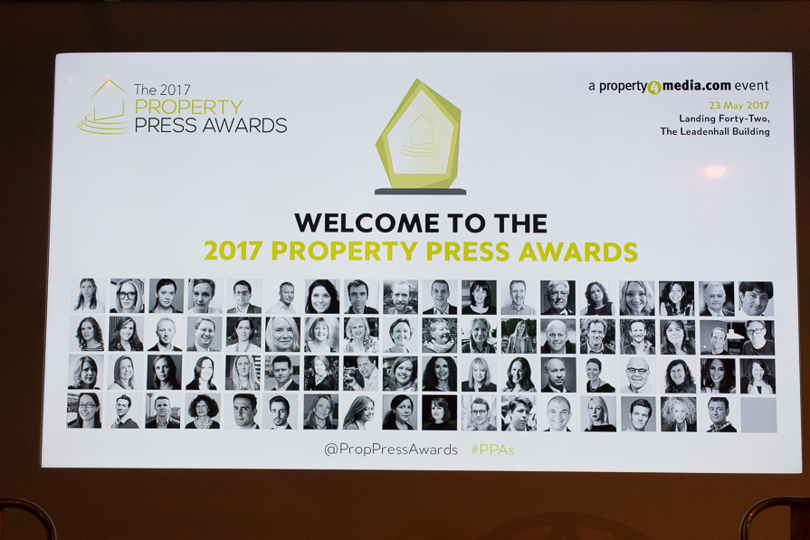 All candidates at the Property Press Awards 2017
