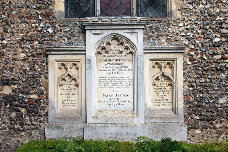 Humphry Repton's grave at Aylsham