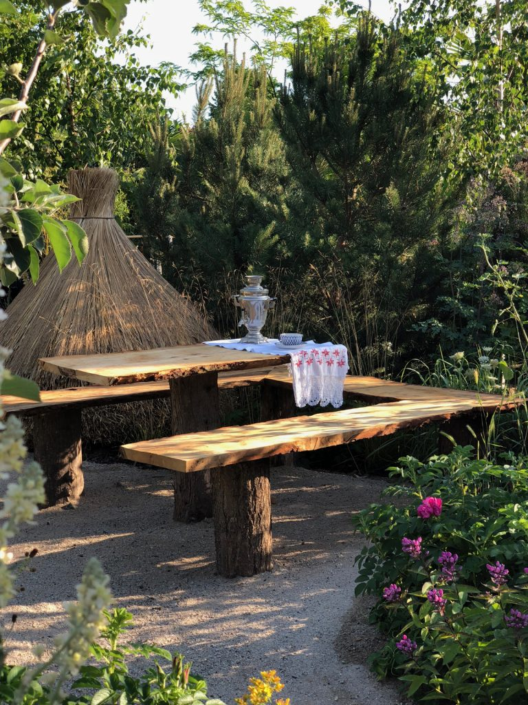 Hampton Court Flower Show: herbal tea in the Anton Chekhov Garden